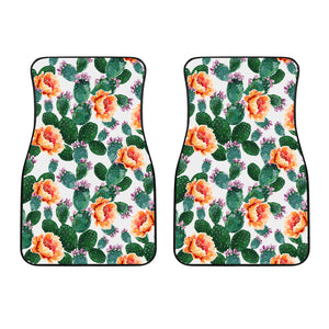 Cactus and Flower Pattern Front Car Mats