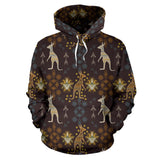 Kangaroo Aboriginal Theme Pattern  Men Women Pullover Hoodie