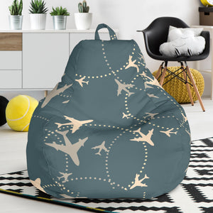 Airplane Circle Pattern Bean Bag Chair