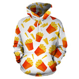 French Fries Pattern Men Women Pullover Hoodie
