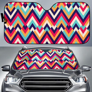 Zigzag Chevron Pattern Background Car Sun Shade