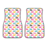 Colorful Rabbit Pattern Front Car Mats