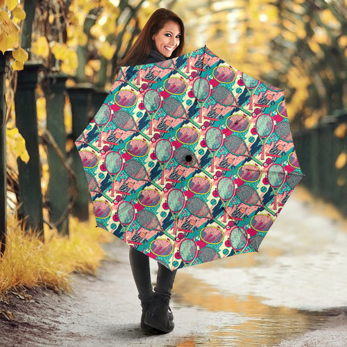 Tennis Pattern Print Design 01 Umbrella