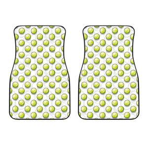 Tennis Pattern Print Design 05 Front Car Mats