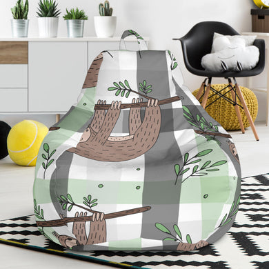 Sloth Pattern Stripe Background Bean Bag Chair