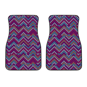 Zigzag Chevron Pokka Dot Aboriginal Pattern Front Car Mats