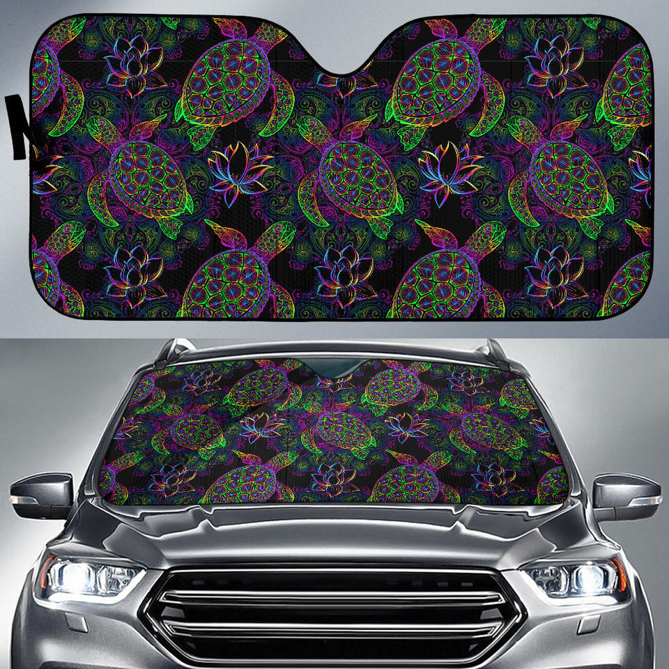 Sea Turtle Pattern Car Sun Shade
