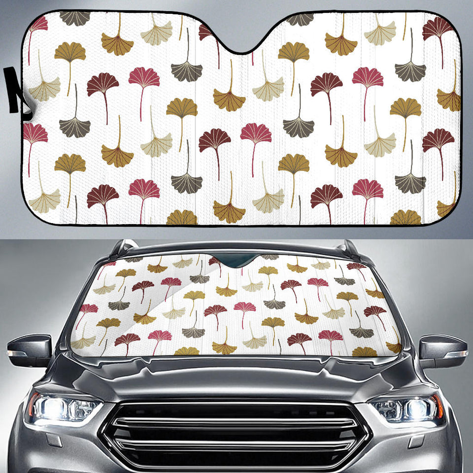 Autamn Ginkgo Leaves Pattern Car Sun Shade