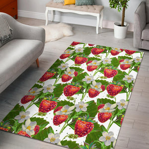 Strawberry Pattern Area Rug