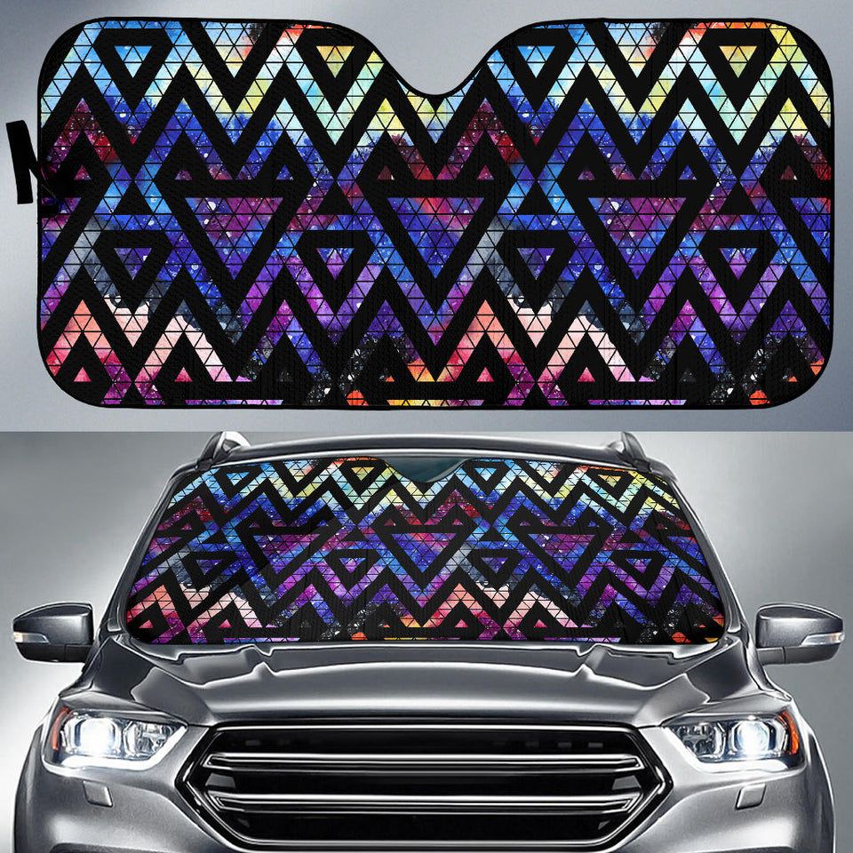 Space Colorful Tribal Galaxy Pattern Car Sun Shade