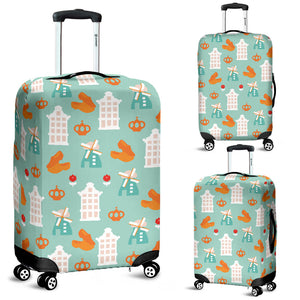 Windmill Pattern Theme Luggage Covers
