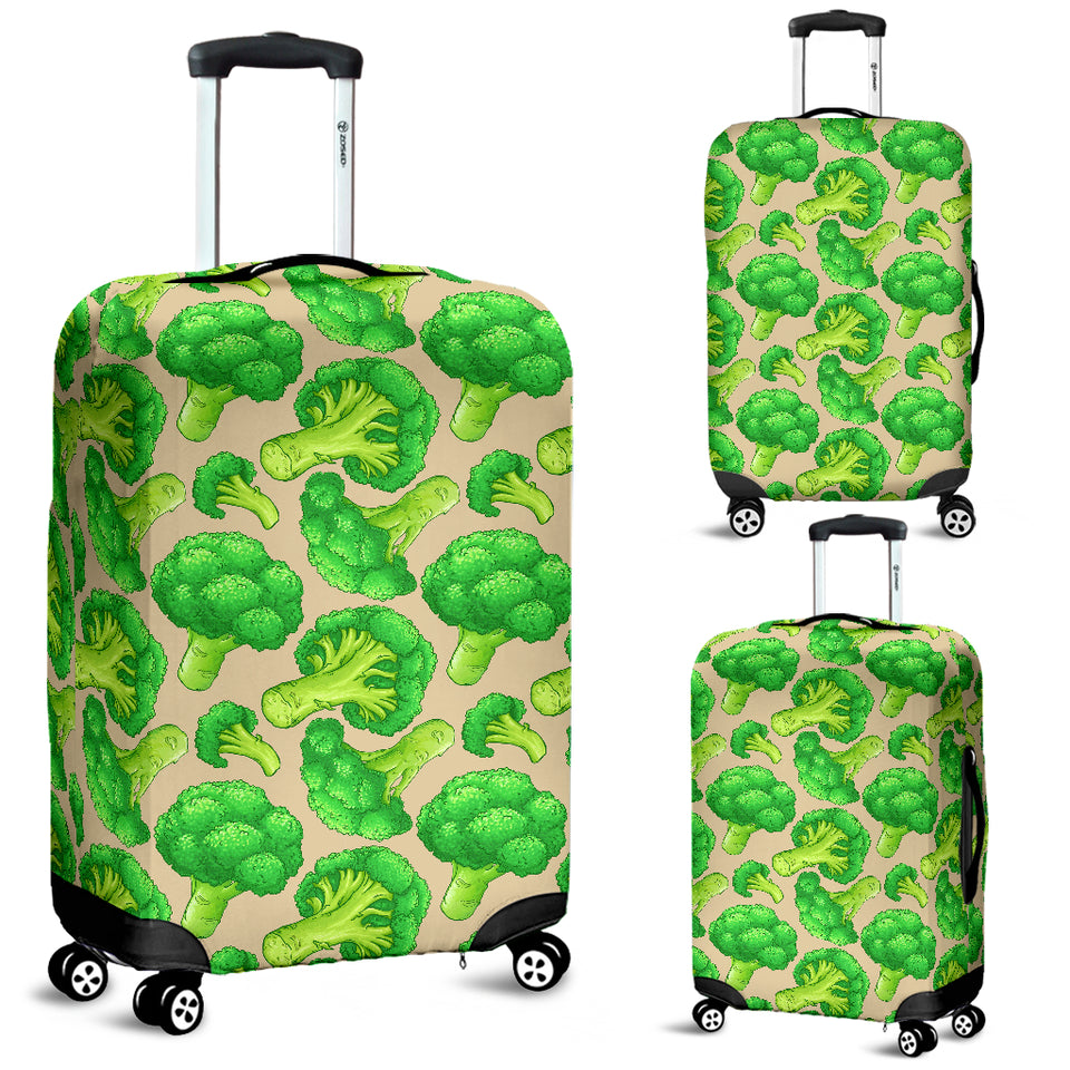 Broccoli Pattern Pink background Luggage Covers