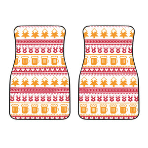Beer Sweater Printed Pattern Front Car Mats