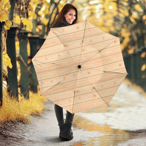 Wood Printed Pattern Print Design 05 Umbrella