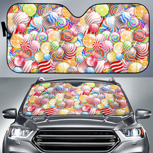 Candy Lollipop Pattern Car Sun Shade