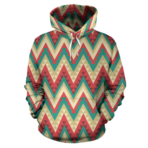 Zigzag Chevron Pattern Men Women Pullover Hoodie