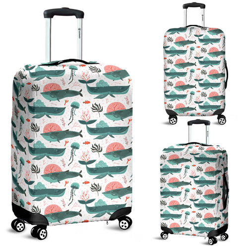 Whale Jelly Fish Pattern  Luggage Covers
