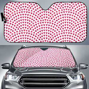 Heart Wave Pattern Car Sun Shade