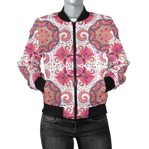 Indian Pattern Women Bomber Jacket