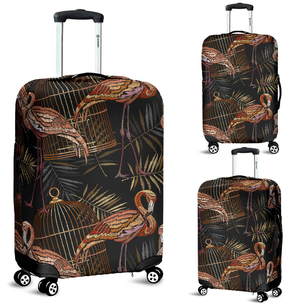 Flamingo Pattern Background Luggage Covers