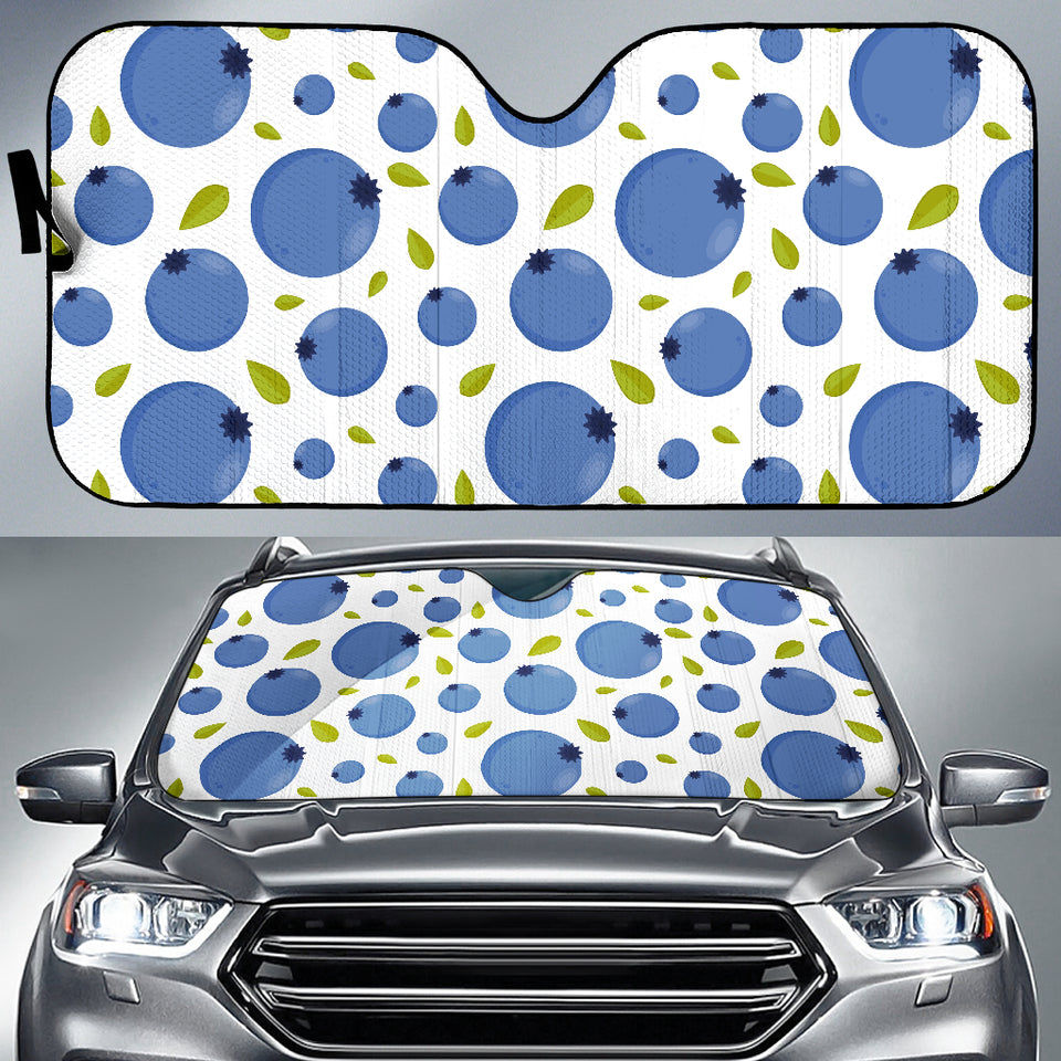 Blueberry Pattern Car Sun Shade