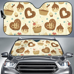 Cake Pattern Car Sun Shade