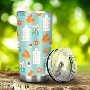 Windmill Pattern Theme Tumbler