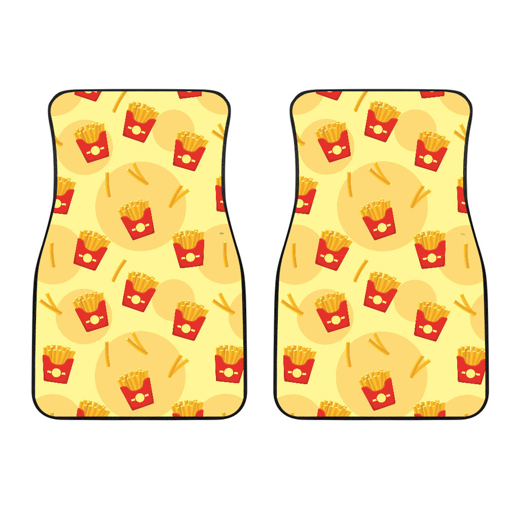 French Fries Pattern Background Front Car Mats