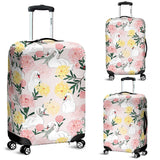 Swan Flower Pattern Luggage Covers