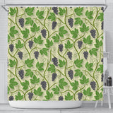 Grape Leaves Pattern Shower Curtain Fulfilled In US