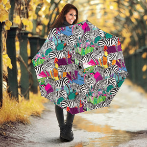 Zebra Colorful Pattern Umbrella