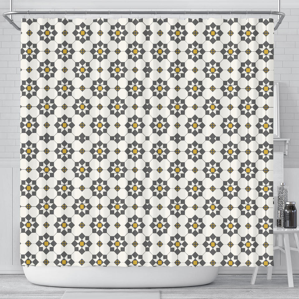 Arabic Morocco Pattern Background Shower Curtain Fulfilled In US