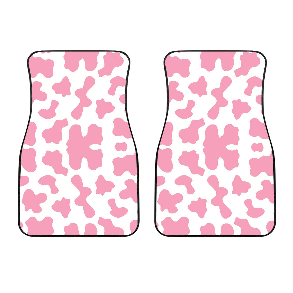 Pink Cow Skin Pattern Front Car Mats