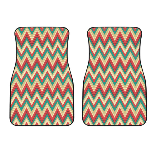 Zigzag Chevron Pattern Front Car Mats