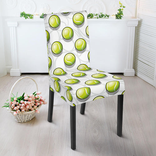Tennis Pattern Print Design 05 Dining Chair Slipcover
