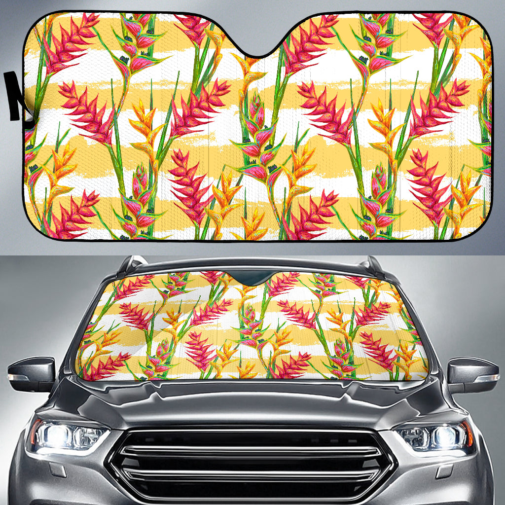 Heliconia Pattern Car Sun Shade