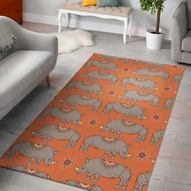 Rhino Pattern Theme Area Rug