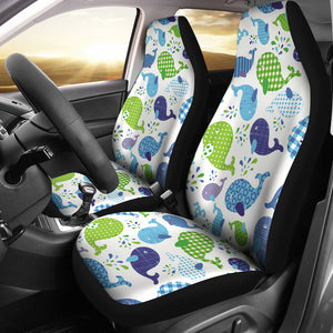 Whale Stripe Dot Pattern Universal Fit Car Seat Covers