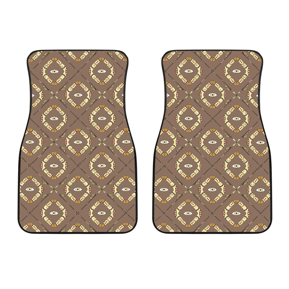 Traditional Boomerang Aboriginal Pattern Front Car Mats