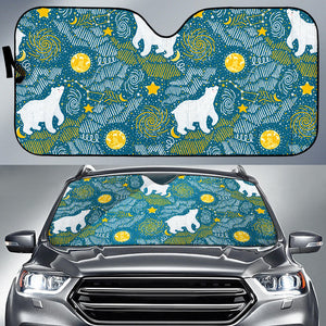 Polar Bear Pattern Car Sun Shade