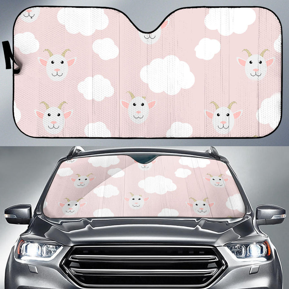 Goat Could Pink Pattern Car Sun Shade