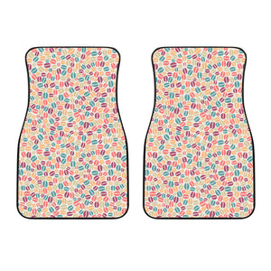 Colorful Coffee Bean Pattern Front Car Mats