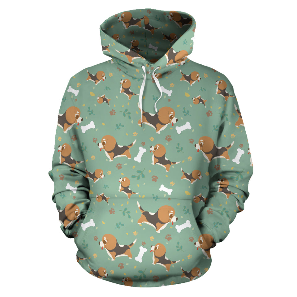 Beagle Bone Pattern Men Women Pullover Hoodie