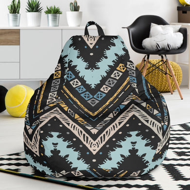 Zigzag Chevron African Afro Dashiki Adinkra Kente Bean Bag Chair