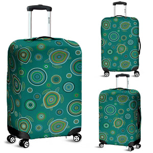 Sea Turtle Aboriginal Pattern Luggage Covers
