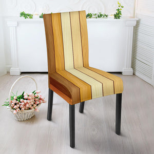 Wood Printed Pattern Print Design 01 Dining Chair Slipcover