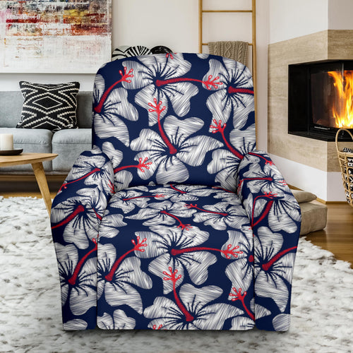 Hibiscus Pattern Print Design 02 Recliner Chair Slipcover