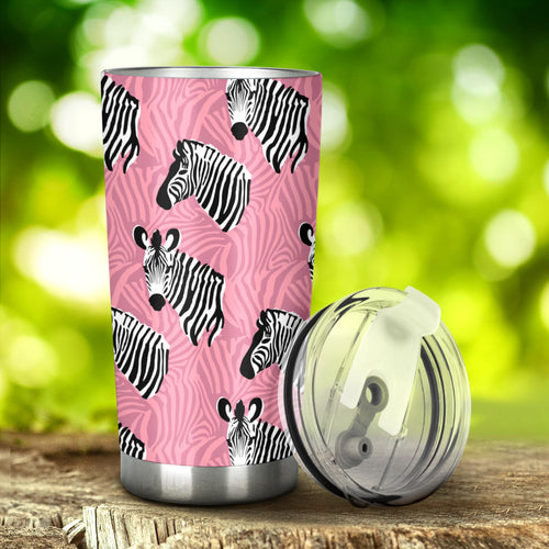Zebra Head Pattern Tumbler