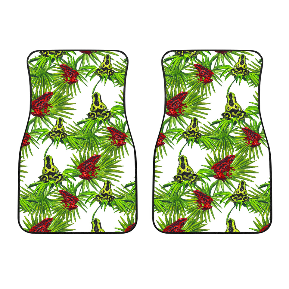 Green Red Frog Pattern Front Car Mats
