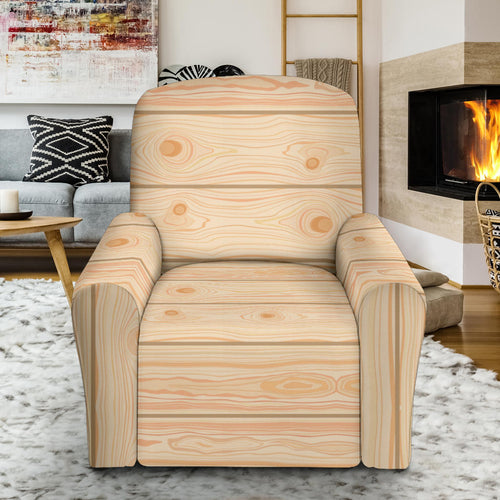 Wood Printed Pattern Print Design 05 Recliner Chair Slipcover